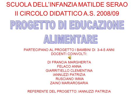 progetti scuola dell infanzia alimentazione progetto di educazione alimentare ppt scaricare