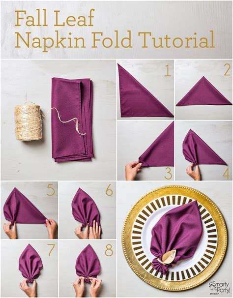 Folding Paper Tutorial - 25 napkin folding techniques that will transform your