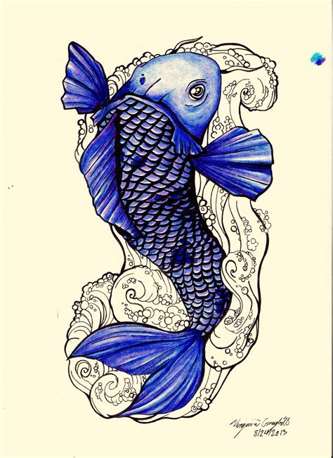 blue koi fish tattoo designs interfaces design 2013 2015 ginniegii my