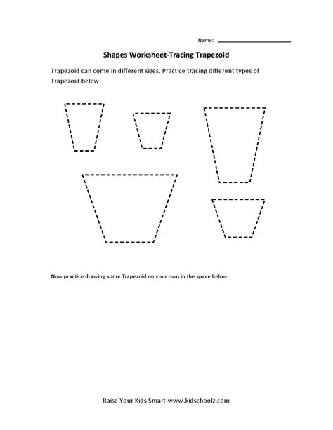 free printable area of trapezoid worksheets worksheets trapezoid worksheet opossumsoft worksheets