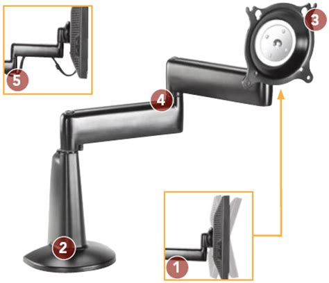 monitor swing arm desk mount chief kcd110b dual arm desk mount single monitor