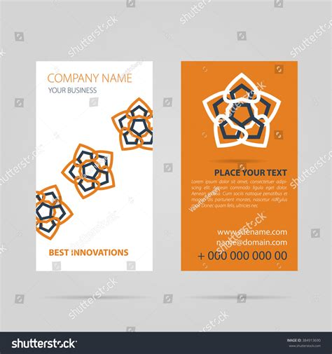 caricature business card templates vector illustration drawing orange vertical business stock