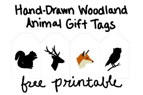 printable animal gift tags woodland animals gifts cake ideas and designs