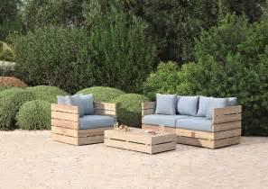 Blooma cavallo wooden coffee table armchair and sofa garden set 163