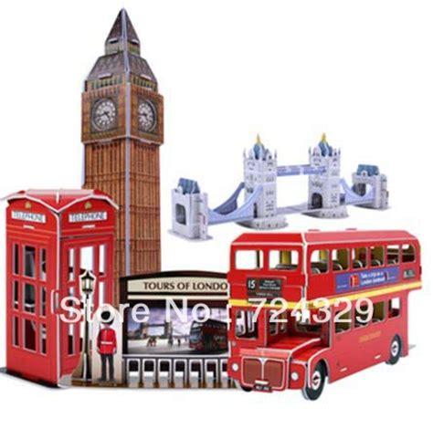 Big Ben Papercraft - 3d puzzle paper craft 5 different streetscape big
