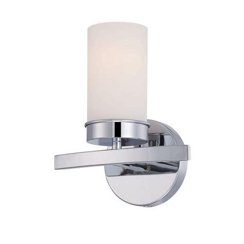 chrome bathroom sconce world imports 1 light ava chrome bath sconce with glass
