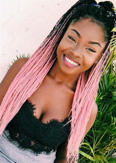 blonde pink black braids 35 awesome box braids hairstyles you simply must try