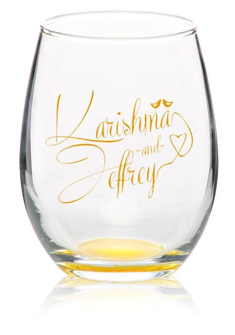 stemless wine glasses monogrammed david simchi levi