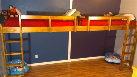 diy loft bed with how to build a super fun end to end loft bed for kids