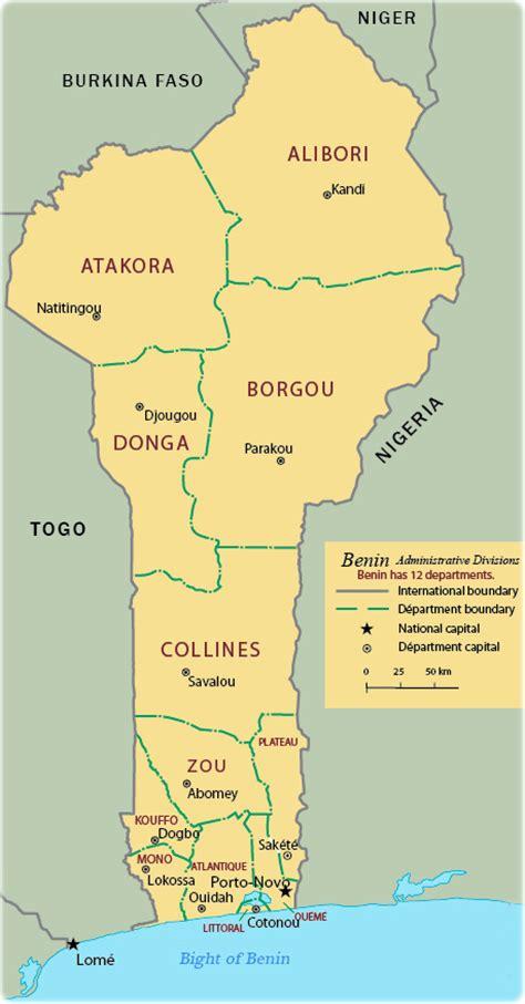 africa map benin map of benin travel africa
