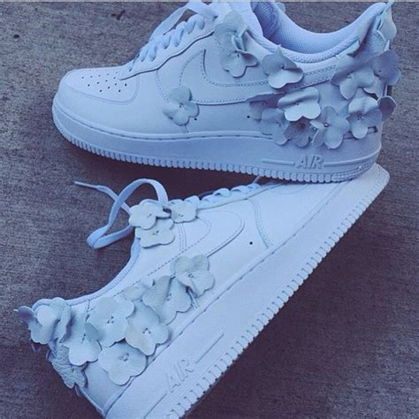 pretty nike shoes for we it white flower and nike