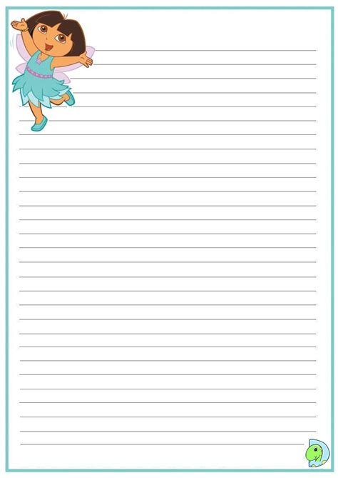Dora The Explorer Writing Paper Dinokids Org The Explorer Coloring Page