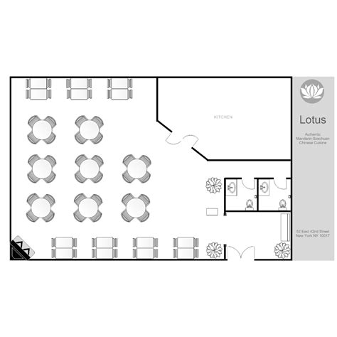 exle layout of a restaurant floor plan templates draw floor plans easily with templates