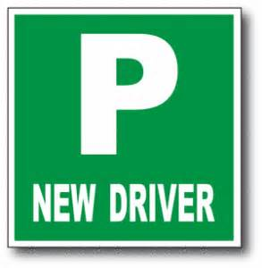 car for new driver p plates on your car after passing your driving test