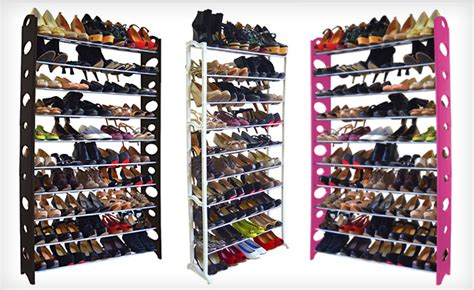 shoe storage toronto up to 45 a 40 or 50 pair shoe rack in white black