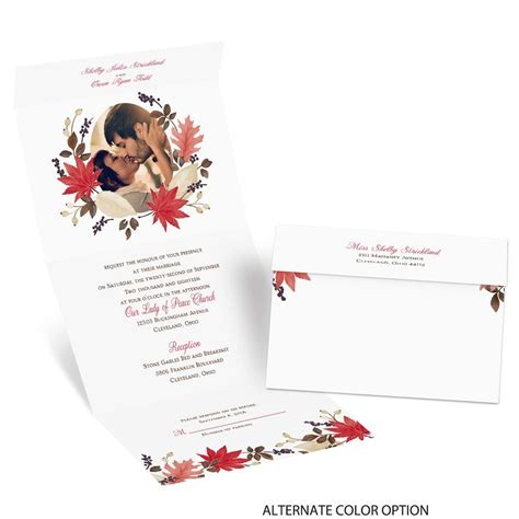 Seal And Send Wedding Invitations by Leaves And Branches Seal And Send Invitation S