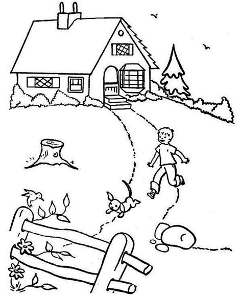 country house coloring pages house country house in houses coloring page country