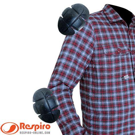 Flanel Protektor Respiro Vinero Daily Jaket Kemeja Flanel Respiro Vinero R3 Dengan Protektor Lengkap