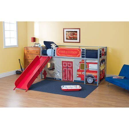 Beds With Slides by Boys Department Metal Loft Bed With Slide
