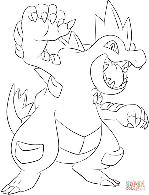 feraligatr coloring page free printable coloring pages