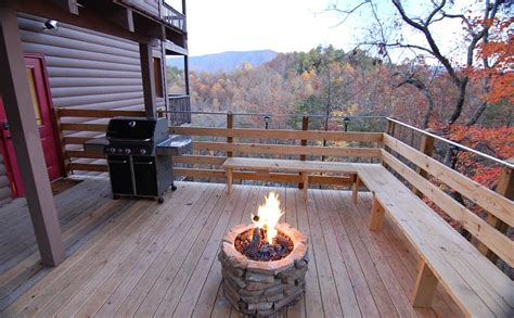 Gas Firepit For Deck Secluded Location 20 Mile Mountain Homeaway Wears Valley