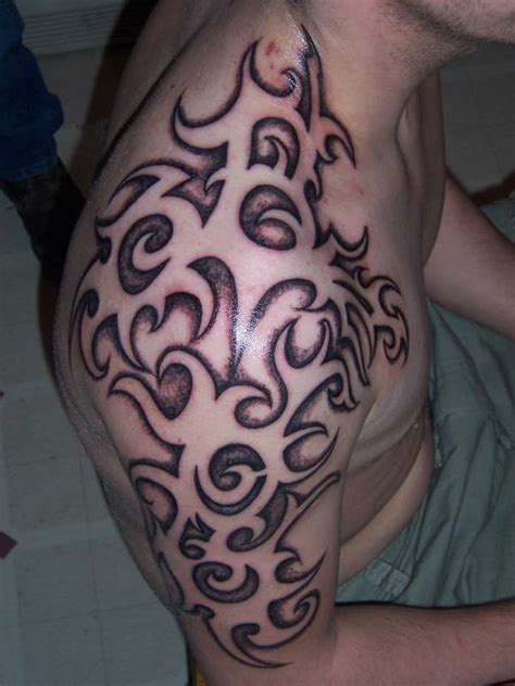 shaded tribal tattoo designs negative shaded tribal