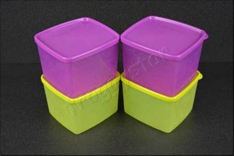 Tupperware Medium Square tupperware snowflake medium square 800ml 4pc set purple green ebay