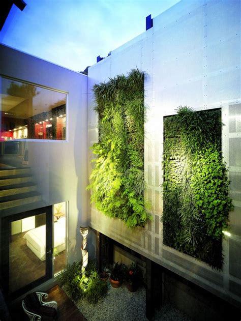 Vertical Garden House Exterior Residential Courtyard Vertical Garden Olpos Design