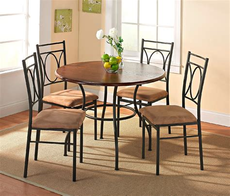 apartment size dining room sets essential home whitney 5 pc dining set apartment size