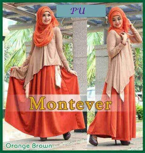 Set Orange Bata baju gamis pesta montever p920 butik muslimah