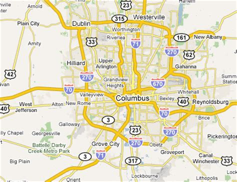 map of columbus columbus metro area web design development firms on the