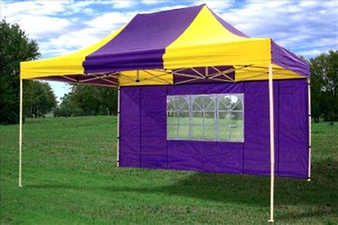 10x15 Gazebo 10x15 Pop Up Canopy Tent Gazebo Ez Yellow Purple