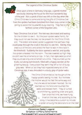 the legend of the christmas tree poem spider legend on craftsuprint designed by harris here is the story of the