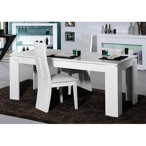 Dining Room Bench Sets Fiesta Extendable Dining Table In High Gloss White 19826