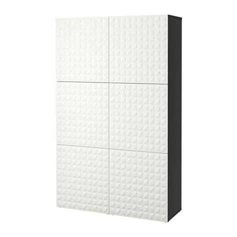 besta ikea doors best 197 storage combination with doors black brown