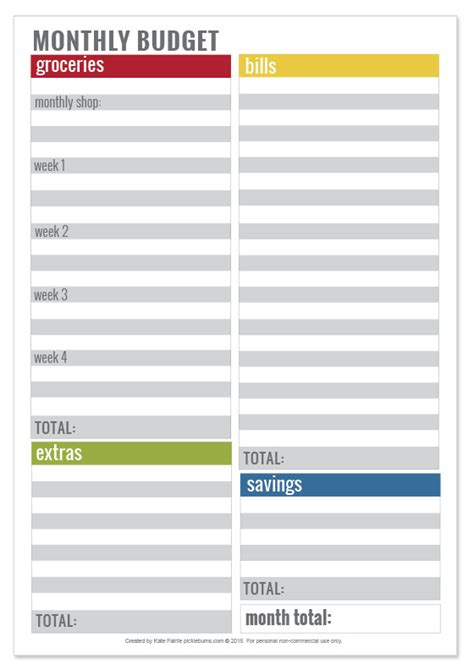 printable simple monthly budget planner simple tips for sticking to a budget picklebums