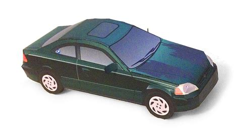 96 00 honda civic paper car free paper model papermodeler