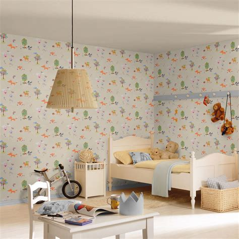 bordure kinderzimmer roller waldtiere tapete borders schlafzimmer kinderzimmer