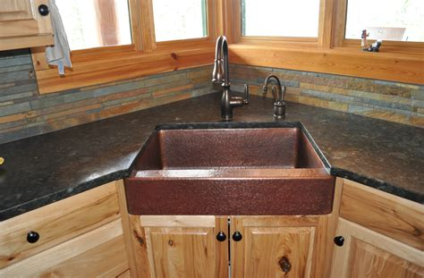 Rustic Kitchen Sink Mountain Rustic Copper Farm Sink Single Basin