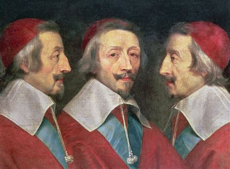 Cardinal Home Decor by Triple Portrait Of The Head Of Richelieu Painting By