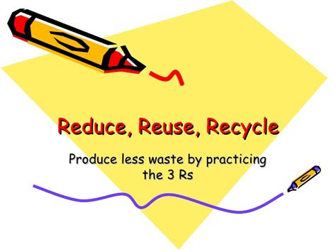 Reduce Reuse Recycle Reduce Reuse Recycle Ppt