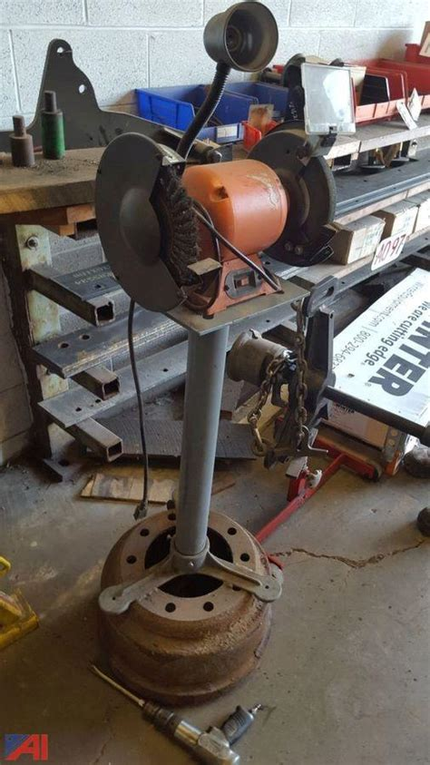 central machinery bench grinder auctions international auction tompkins county surplus
