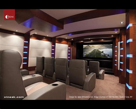 Home Theater Modern Design Cineak Nero Seats Used In Home Theater Contemporary