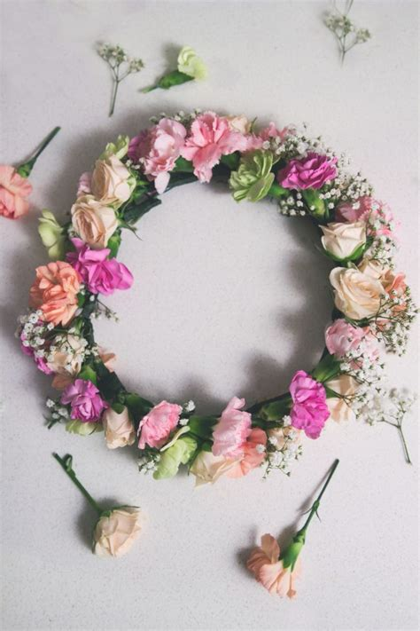 diy flower crown how to diy flower crown sisoo