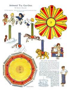 free printable merry go paper doll vintage style