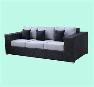 Antique Couches 8mm grey black brushed wicker sofa set new design china