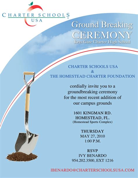 groundbreaking event invitation