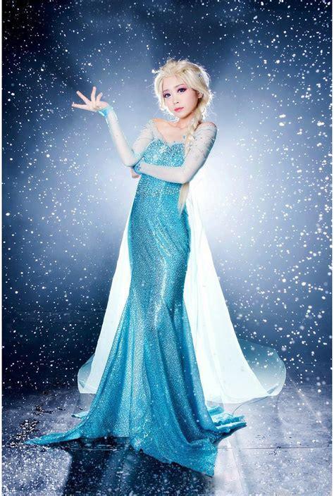 Princess Kostum Elsa Frozen frozen sparkle blue princess elsa costume n9189
