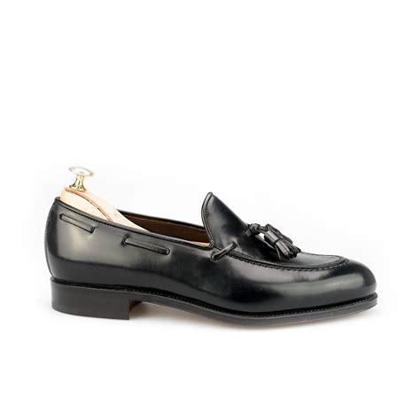 black tassel loafer tassel loafers in black cordovan carmina