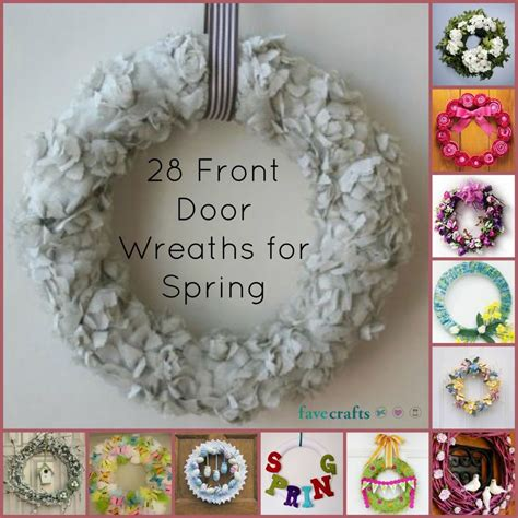 how to make a spring wreath for front door 24 decorative front door wreaths for spring favecrafts com